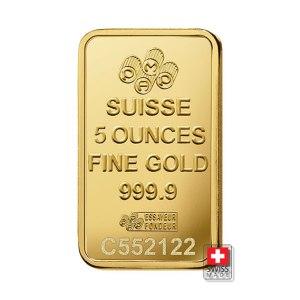 sztabka złota pamp fortuna 5 oz