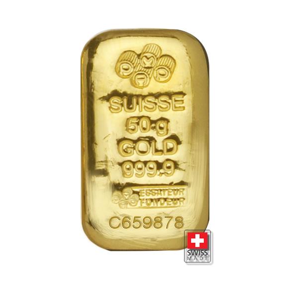 złota sztabka 50 g