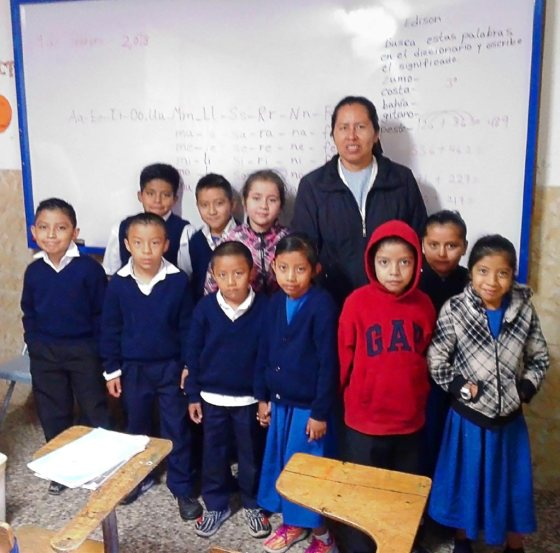 Magalí and her class.