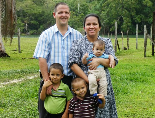 Daniel and Dora Eby, with their three boys Duane, Danny, and Derick, live in the mission house in Santa Rosita and work with the church there.
