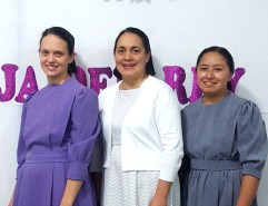 Sara Breneman, Corina de Lopez, and Mary Cristal organized the