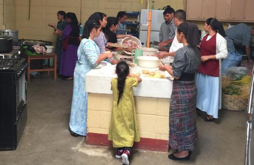 Hundreds of meals are served out of this busy kitchen during Institute week