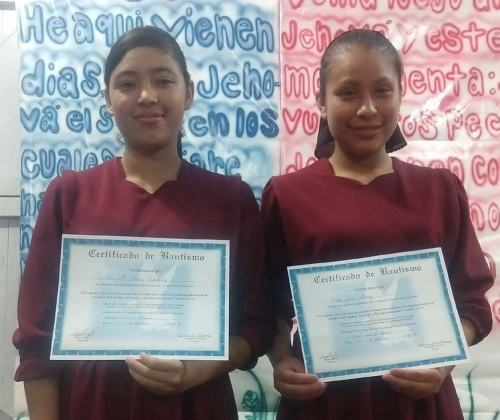 Wendy and Jakelin, both 16, were baptized in October