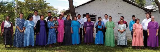 The Mixcolajá congregation after a Communion service