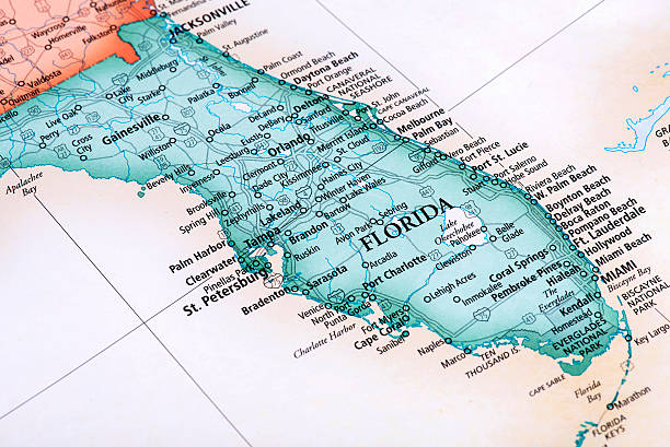 Detail Map Of Florida.Map Of Florida State In Usa Detail From The World Map Men Of Value
