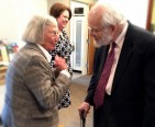 Even Dr. Dunn could not resist the charms of Helen Murphy, former trustee of Menokin.