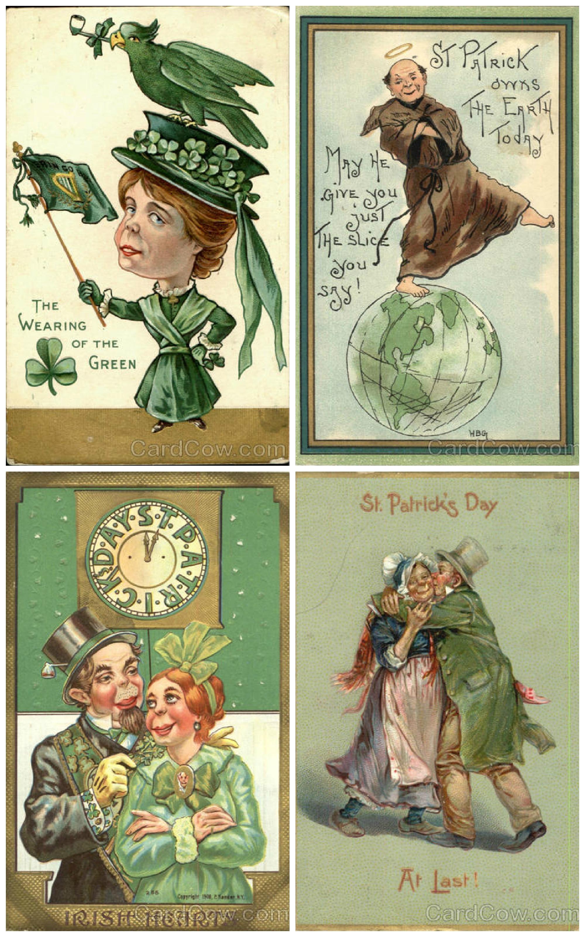 St Patricks Day Vintage Cards Menopausel Supermodel