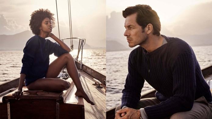 Go Bond met de N.Peal the 007 Navy Ribbed Army Sweater