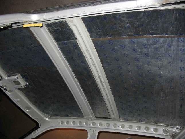 виброизоляция потолка приоры своими руками