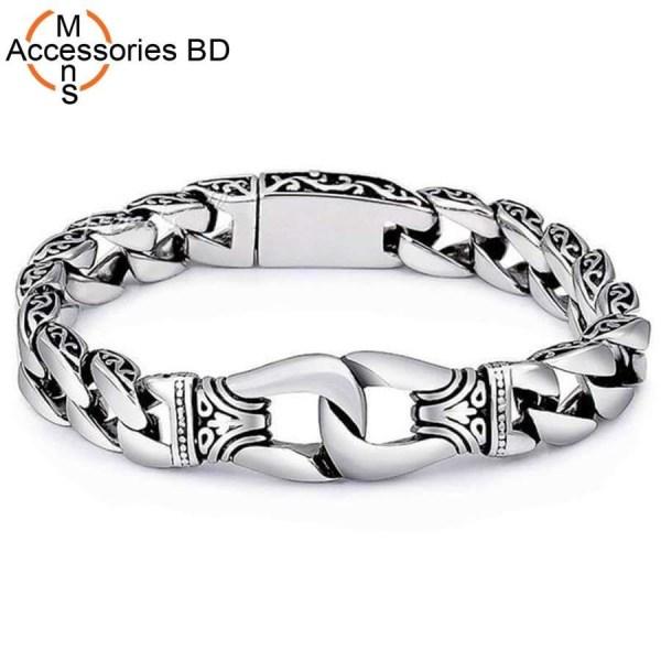 Fashion Retro Jewelry Bracelet Stainless Steel Men's Cuban Chain Bracelet Romantic Bangle Jewelry Drop Shipping