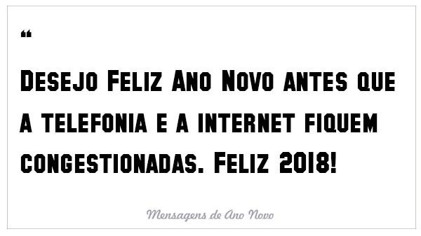 Desejo feliz ano novo