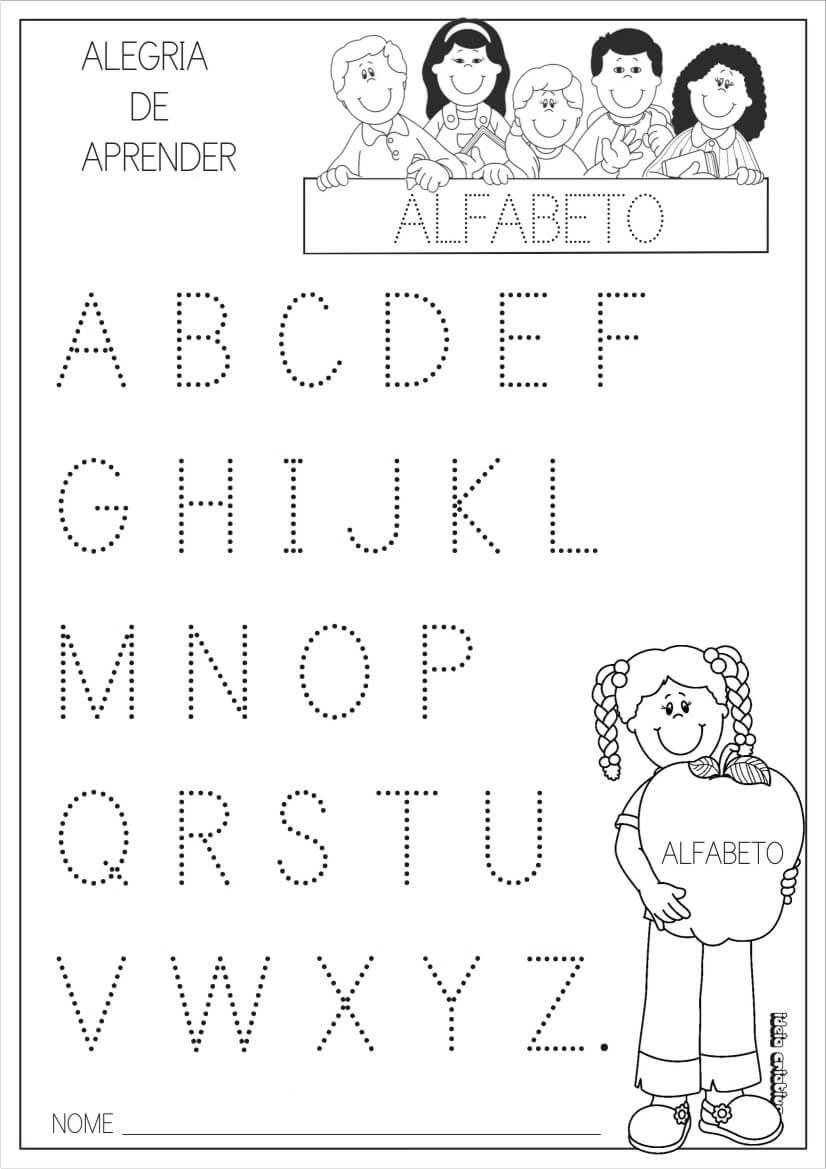 Atividades Para Educao Infantil Com Alfabeto Para