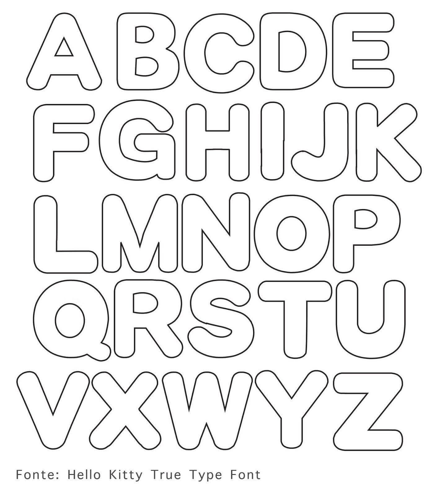 Moldes de Letras em EVA Para Imprimir e Usar em Mural