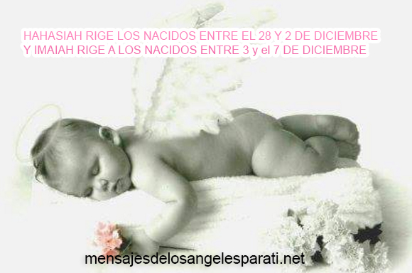 HAHASIAH RIGE LOS NACIDOS ENTRE EL 28 Y 2 DE DICIEMBRE