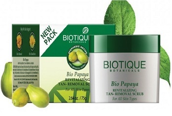 biotique 8 Top Best Anti Tan Facial Scrub for Men in India with Price