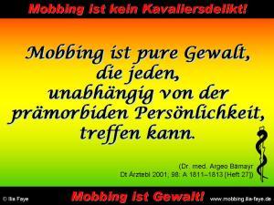 Mobbing ist pure Gewalt