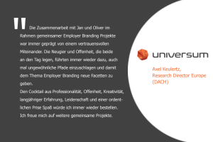 Aussage zur persönlichen Zusammenarbeit von Axel Keulertz, Research Director Europe