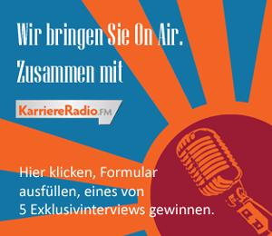 """Teaserbild zur aktuellen Aktion mit KarriereRadio.FM """"On Air"""""""