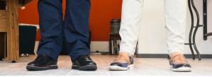 Die Schuhe der menschmark-Gründer Oliver Mattern und Jan Willand
