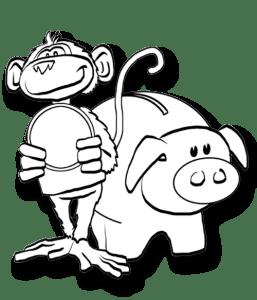Affi mit Sparschwein