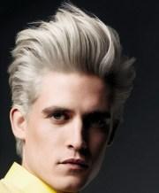 cool blonde men hairstyle
