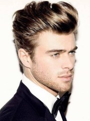 men's side part hairstyle - mens