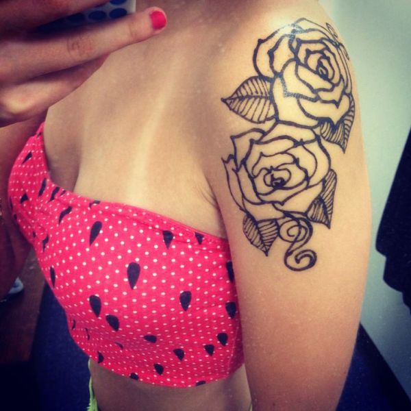 20 Forearm Rose Henna Tattoos Ideas And Designs