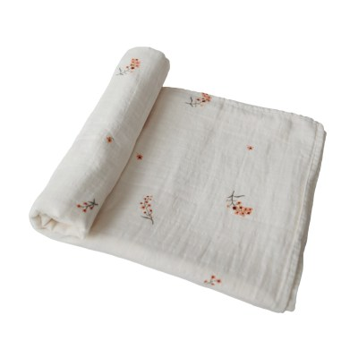 Mushie - Muslin Swaddle Flowers