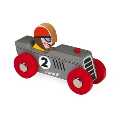 Janod Story Racing retromotor - Zilver