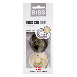 Bibs Bibs Maat 1- White / Dark Oak 2-pack