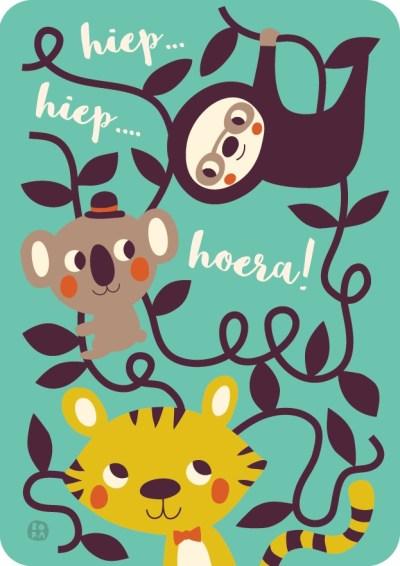 Bora kaart - Party animals - Jungle feest