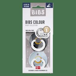 Bibs Maat 1- Iron/Baby Blue Glow in the Dark 2-pack