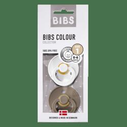 Bibs Maat 1- White / Dark Oak 2-pack