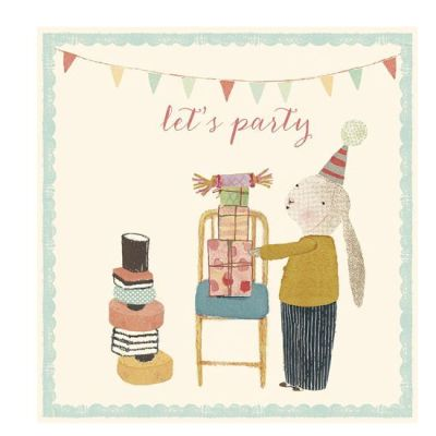 Maileg Bunny Let's Party - Double Card