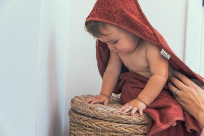 Timboo - Hooded Towel Misty Rose