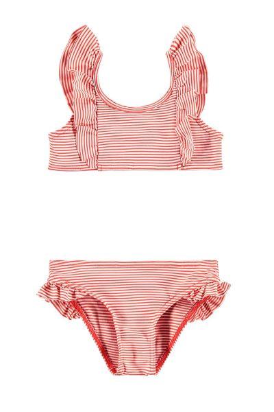 LOOXS - Red Stripe - Bikini - mt 122/128