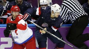 men USA Earns Epic Win Over Russia In Olympic Hockey
