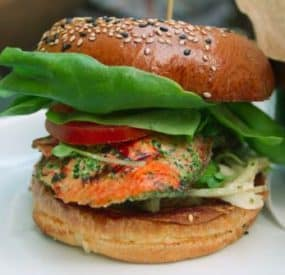 Arctic Char Salmon Burger Recipe