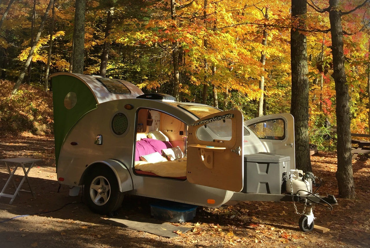 aluminum kitchen chairs front travel trailer vistabule teardrop camping | men's gear