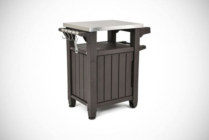 portable outdoor bbq grill carts