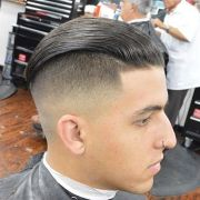 undercut slick hairstyle