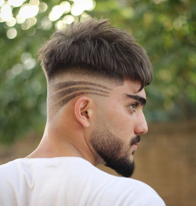 60 most creative haircut designs with lines | stylish