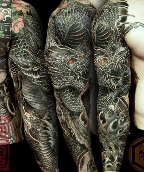 Arm Dragon Tattoo : dragon, tattoo, Dragon, Tattoos, Design, Ideas, (2021, Guide)
