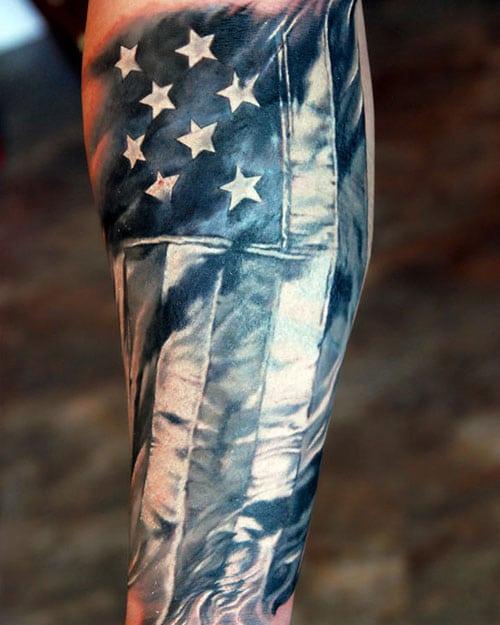 Patriotic Tattoos For Guys : patriotic, tattoos, American, Tattoos:, Patriotic, Design, Ideas, (2021, Guide)