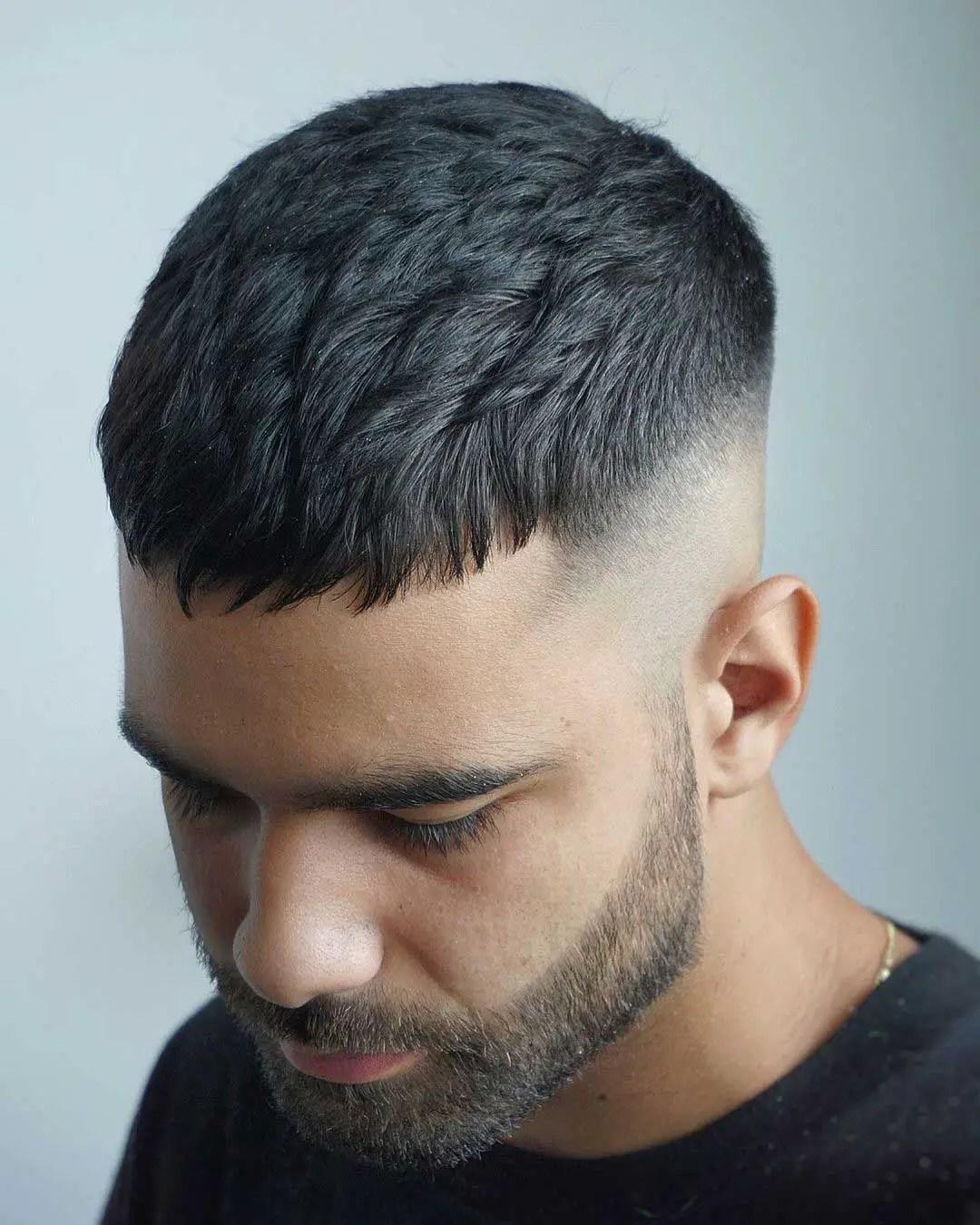 Dark Caesar : caesar, Caesar, Haircut:, Fade,, Light, Hairstyle, Ideas