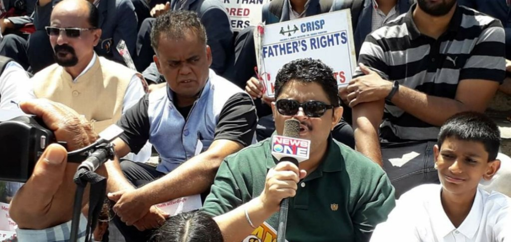 Kumar Jahgirdar at the Father's Day protest