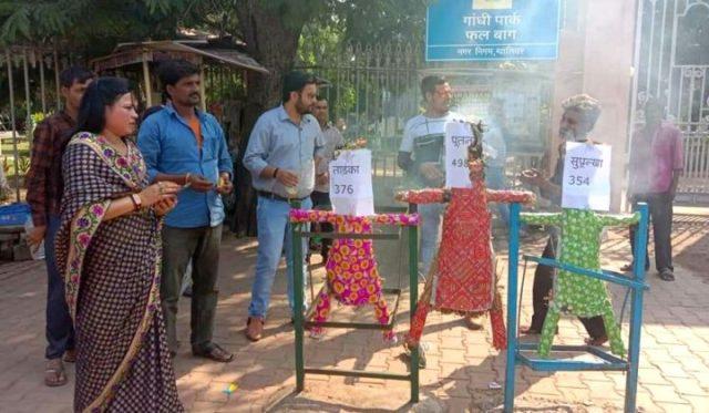 Men's Right Activist performing Supnakha Dahan at Gwalior