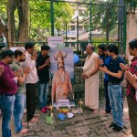 Kumbhakarna Pooja Performed by Men's Activist to wakeup law makers