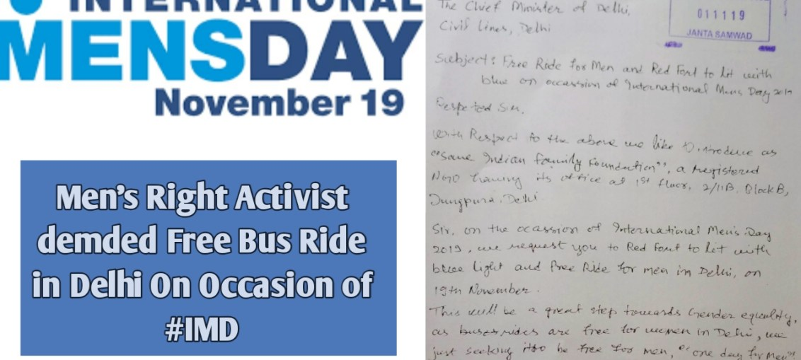 Free Bus Ride for Men on IMD