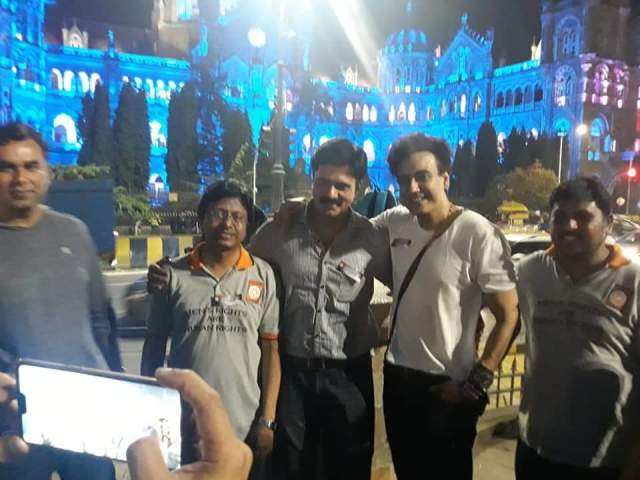 Amit Deshpande, Karan Oberoi at UNESCO World Heritage site CSMT building at Mumbai